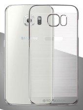 Totudesing Samsung Galaxy S6 Metalik Dark Silver Çizgili Kılıf