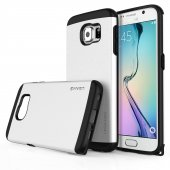 Usams U Series Samsung S6 Rubber Kapak Beyaz Tam Korumalı Kılıf