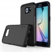 Usams U Series Samsung S6 Rubber Kapak Siyah Tam Korumalı Kılıf