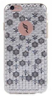 Totu İphone 6 6s Özel Tasarım Desenli Silikon Kılıf Silver