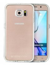 TotuDesing Samsung Galaxy S6 Alüminyum Silver Çerçeveli Kılıf