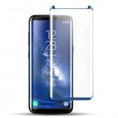 Samsung Galaxy S8 Plus Kavisli Ekran Koruyucu Mavi