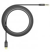 Baseus Type C to Aux Dönüştürücü Kablo Siyah-2