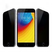 iPhone 6 6S Privacy Gizli Siyah Ekran Koruyucu Cam-2