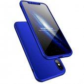 iPhone X Kılıf 360 Full Koruma Lacivert-2