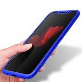 iPhone X Kılıf 360 Full Koruma Lacivert-3