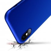 iPhone X Kılıf 360 Full Koruma Lacivert-4