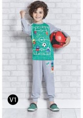 Roly Poly 1101 Erkek Çocuk Pijama Takımı 5-8 Yaş