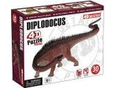 4D Puzzle Diplodocus (30 Parça)-2