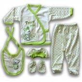 32139 6 Luxelıne Organik 100pamuk 5 Parça Zıbın Takımı (Yeşil)