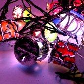 91289 4 Yılbaşı Çam Ağacı Süsleme Işıkları Fener Şekilli (Gümüş)