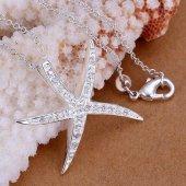 Elayra 925 Gümüş Zirkon Taşlı Deniz Yıldızı Kolye