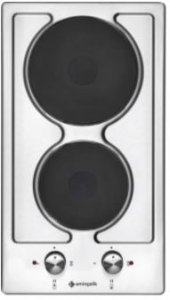 Eminçelik 41240 Ankastre İki Gözü Elektrikli İnox Domino Ocak