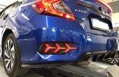 Honda Civic 2016 2019 Fc5 Arka Sis Farı Ağaç Yıldı...