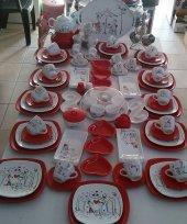 Keramika Peri Masalı Kare Kahvaltı Takımı