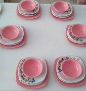Keramika Pembe Butterfly Yemek Takımı