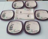 Keramika Mor Retro Kahvaltı Takımı