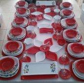 Keramika Kırmızı Butterfly Yemek Takımı