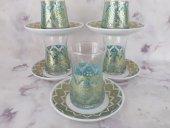 çay Bardağı 12 Parça Yaldızlı Etnik