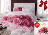 Cotton Box Darling Pembe 3d Floral Çift Kişilik Nevresim Takımı