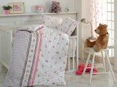 Cotton Box Lace Lesli Gri Gipürlü Bebek Nevresim Takımı