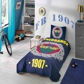 Taç Lisanslı Fenerbahçe Marşlı Logo Yatak Örtüsü Seti