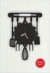 özel Tasarım Ahşap Dekoratif Mutfak Saati