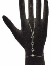 925 Ayar Gümüş Kalp Modeli Şahmeran, Beyaz Siyah Taş