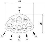 CT L637 5 DELIKLI ALUM. DAGITIM PLAKASI 40KN-2