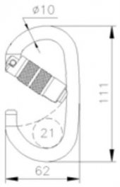 CT CELIK C/F OVAL KARABINA TRI-LOCK-4