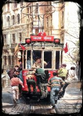 Taksim Tünel Tranvay Ahşap Eski Tablo Ev,cafe,ofis Dekorasyonu