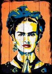 Frida kahlo Ahşap Eskitme Tablo Ev,cafe,ofis dekorasyonu
