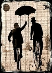 Yağmur, Şemsiye Ahşap Eskitme Tablo Ev,cafe,ofis dekorasyonu