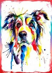 Sevimli köpek Ahşap Eskitme Tablo Ev,cafe,ofis dekorasyonu