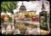 Londra London Ahşap Eskitme Tablo Ev,cafe,ofis Dekorasyonu