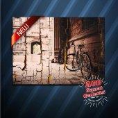 Nostaljik Bisiklet Eskitme Desenli Tablo...