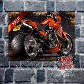 Harley Davidson Eskitme Desenli Tablo Ev, Cafe,...