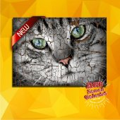 Kedi, Cat Ahşap Eskitme Desenli Tablo Ev,cafe,ofis Dekorasyonu