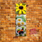 Ahşap Dekoratif Tablo Çiçekler Mutfak, Cafe Veya Ev Dekorasyon