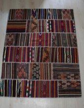 El Dokuma Patchwork Kilim 137 x 180-2