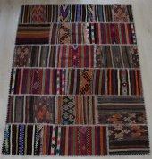 El Dokuma Patchwork Kilim 137 x 180-3