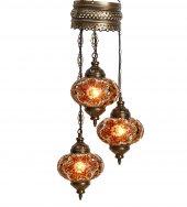 Amber Otantik Tavan Sarkıt Avize Mozaik Lamba Gece Lambası Dekor Lamba