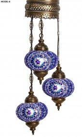 Mavi Uzay Otantik Tavan Sarkıt Avize Mozaik Lamba Gece Lambası Dekor Lamba
