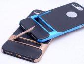 İPhone 7 Mavi Stantlı Kılıf-4