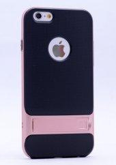 Iphone 6 Plus Rose Gold Stantlı Kılıf