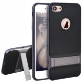 Iphone 8 Plus Gri Stantlı Kılıf