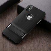 İPhone X Siyah Stantlı Kılıf