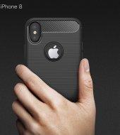 Apple iPhone X Silikon Karbon Fiber Kılıf-2