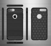 Apple İphone 8 Plus Silikon Karbon Fiber Kılıf