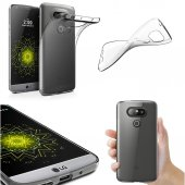 LG G5 Şeffaf İnce Kılıf + Ekran Koruyucu Cam-2